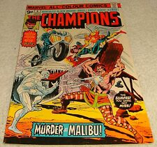 MARVEL COMICS THE CHAMPIONS # 4 VF- 1975 UK PRICE VARIANT