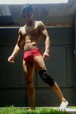 Shirtless Male Muscular Frat Jock Bare Foot Dude in Briefs PHOTO 4X6 C1813