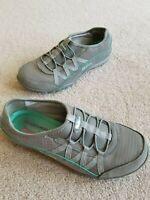 Skechers Relaxed Fit Breathe Easy Sneakers Shoes Memory Foam Gray Women's 6.5