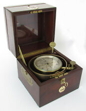 Rare! 19th C. Ship Chronometer By Early French Maker With Famous English Maker