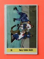 Barry Cullen Shoots 1958-59 Parkhurst Hockey Card #36 Toronto Maple Leafs