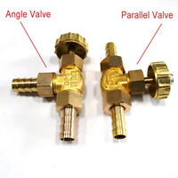 Inline Brass Needle Valve for Gas/Air/lpg 8mm /10mm hose Parallel / Angle Valve