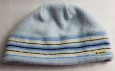Columbia Sportswear O/S Blue Striped Fleece Soft Comfort Warm Winter Beanie Hat