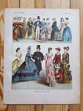 German Costume - 18th cen - Fashion History, Original Print, Art, ladies dresses