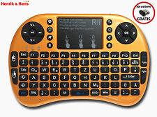 Rii i8+ Mini Funk Kabellos Tastatur Touchpad Wireless Keyboard Backlit Deutsch