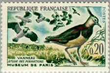 EBS France 1960 Bird Migration - Northern Lapwing MNH** (FR1332)