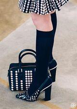 Tory Burch Kay Polka Dot Black White Slingback Pointy Toe Sandal 7- 37 Shoes
