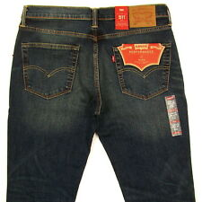 Levis 511 Mens Slim Fit Jeans New SIZE 36 x 34 DARK BLUE WITH FADE Levi's NWT