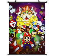 Hot Anime Game Super Mario Bros Wall Scroll Poster cosplay Gift 2651