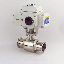 """3"""" Stainless 304 Tri Clamp Motorized Electric Actuated Ball Valve AC220V"""