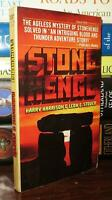 Harrison, Harry; Stover, Leon E. STONE HENGE  1st Edition 1st Printing