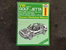 VW GOLF JETTA  HAYNES MANUAL 84 - 92