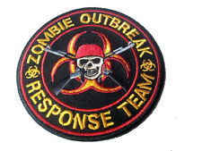 ZOMBIE HUNTER SKULL RIFLE EMBROIDERED IRON ON 3.5 INCH PATCH