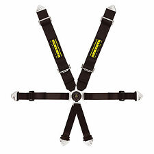 Schroth Clubman II-6 Saloon FIA Approved Harness - Hans Compatible - In Black