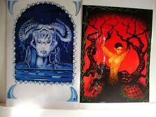 ENIGMA DESIGN PRINTS (2) BY ELIZABETH A. SYKES ( erotic fantasy ) FREE SHIP/GIFT