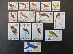 MALAWI, SC# 95-109, BIRDS SET (1968) MINT
