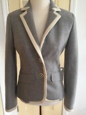 J. CREW HO 07 Women's Size 4 Classic Gray Double-faced Wool LEXINGTON Jacket EUC