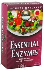 Source Naturals Essential Enzymes 500mg Blister Pack - 30 cap