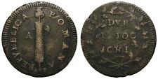 Prima Repubblica Romana (1798-1799), 2 Baiocchi Ancona, sigle A P al D/