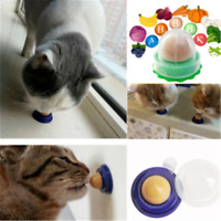 Novelty Cat Snacks Catnip Sugar Candy Licking Solid Nutrition Energy Ball Toy ~