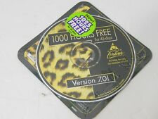 2001 AOL 7.0 America Online 1000 CD Disc Rom Collectible Leopard