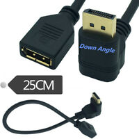 30cm 90 Degree Angled DisplayPort Male to Female Extension Adapter DP Cable Cord