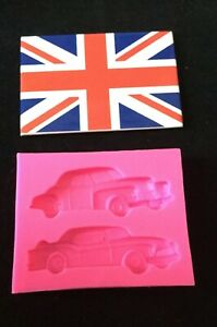 Two Car Mould For Cake Decorating
