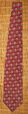 Karl Lagerfeld Men's Geometric Neck Tie 100% Silk Made in USA Red Blue