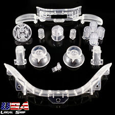 Custom RB LB Button Kits Mod for Microsoft Xbox 360 Controller Transparent Clear