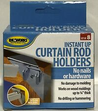 NEW** IdeaWorks Instant Up Curtain Rod Holders with FREE SHIPPING