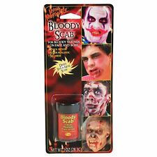 Bloody Scab Halloween Cosmetic Special Effects Zombie Monster Face Body Wound UK