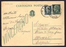STORIA POSTALE RSI 1944 Intero Postale 15c da Pigna a Pieve di Teco (FSA)