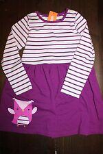 NWT Gymboree Mix and Match 5T Purple Striped Owl Knit Dress