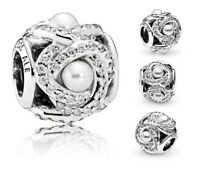 Genuine Pandora Sterling Silver ALE 925 Luminous Love Knot Charm 792105WCP PC288