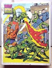 1981 Fantastic Four Marvel Comics Boxed Jigsaw Puzzle- 100 Pcs-FREE S&H (C-6202)