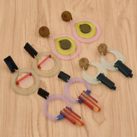 1pair Candy Tassel Circle Acrylic Earrings Drop Dangle Studs Jewelry Statement