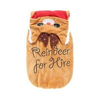 Funny Dog Clothes Christmas Xmas Reindeer Pet Costume Puppy Coat Clothing  P4PM