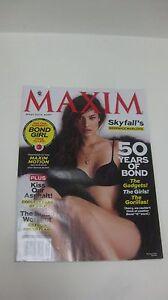 Collectible Maxim Magazine November 2012 Issue See Superhot Bond Girl  NEW eb991