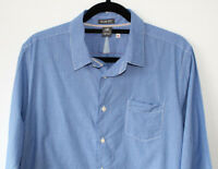 "White Stuff Slim Fit Mens Shirt Blue White Stripe 21"" Pit to Pit Size Medium"