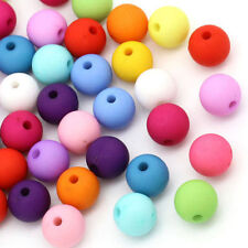 100 pcs 8mm mixed color acrylic Matte beads spacer findings charms
