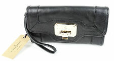 Cole Haan Black Leather Vintage Valise II Isabelle Clutch Wallet Purse NWT $198