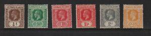 Leeward Islands - 6 Geo. V stamps, mint, cat. $ 32.75