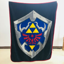The Legend of Zelda shield black fleece quilt blanket blankets nap rug anime new