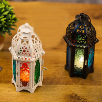 BT_ ITS- CO_ Moroccan Style Glass Lantern Tea Light Candle Holder Wedding Home D