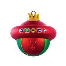 Alessi Amj13 10 Baldassarre Boule de Noël en Verre Soufflé Decorée À la Main
