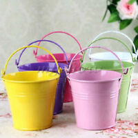 10Pcs Mini Tin Pails Metal Buckets Wedding Party Gifts Candy Keg Box Multicolors