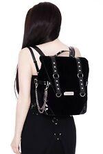 KillStar Noctivagus Backpack NEW Purse Black Goth Punk Rock Vegan Moon Zippers