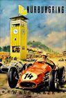 Nurburgring 1957 German Car Races Vintage Poster Print Car Racing Grand Prix