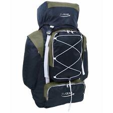 Large 80 Litre Camping Hiking Travel Holiday Rucksack Backpack Luggage Bag Olive