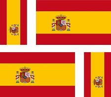 4x sticker Adesivo Adesivi decal decals Vinyl auto moto bandiera Spagna spagnolo